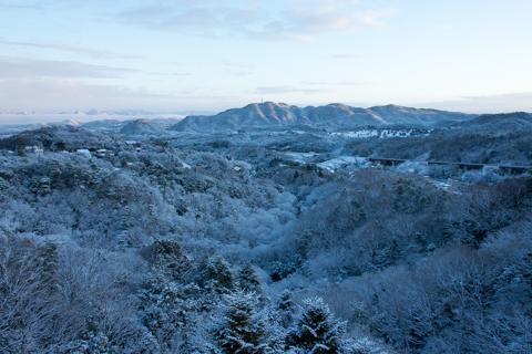 雪景色と雲海