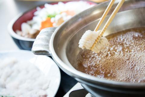 地元淡路島産鱧すき鍋