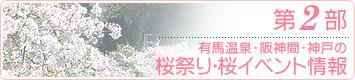 有馬・阪神間・神戸の桜祭り・桜イベント情報