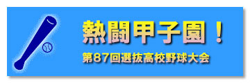 熱闘甲子園2015!春の高校野球特集