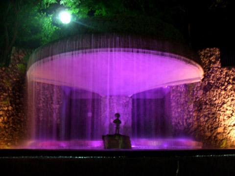 """Night View of """"Yukemuri Plaza"""""""